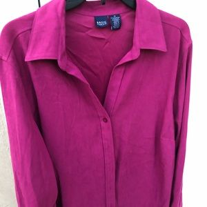 Long Sleeve Blouse in Magenta